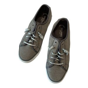 SPERRY Top Sider  Memory Foam Gray Boat Shoes